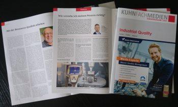 Druckfrisch: Die 2021er-Ausgabe der »Industrial Quality« (Bild: Kuhn Fachverlag).